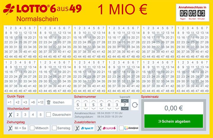 Lottobay Spielschein