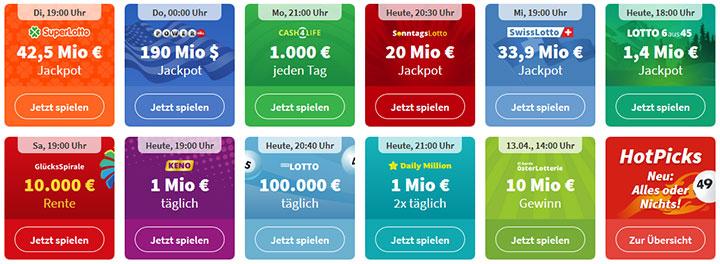Lottohelden Lotterieangebot
