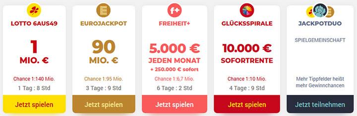 Tipp24 Lotterieangebot